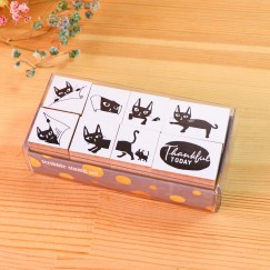 Scribble stamp set-Pocket cat