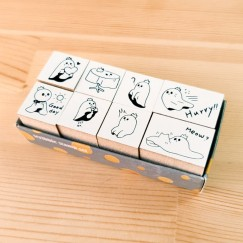 Scribble stamp set-Ghost tablecloth