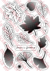 clear stamps & Dies set -Season leaves