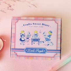 Sweet diary stamp set-Time girl