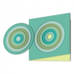 Die Cut Craft-Sewing line circle