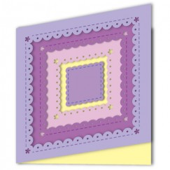 Die Cut Craft-Square cookie shape