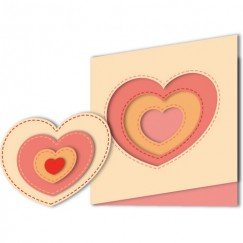 Die Cut Craft-Sewing line heart shape