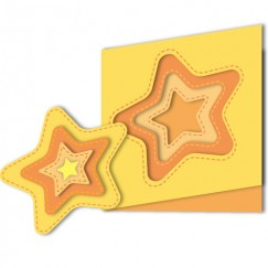 Die Cut Craft-Sewing line star shape