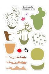 Color Layering CLEAR STAMPS-cactus
