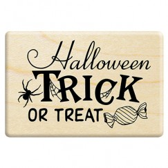 Trick or treat Halloween English stamp