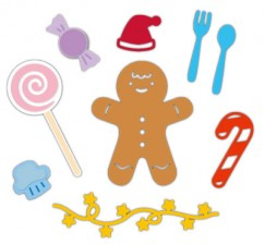 Die Cut Craft-Happy gingerbread man