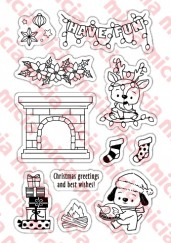cleae stamp set-Christmas Roast Chicken Party