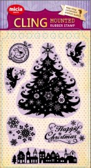 Cling stamp set-Christmas miracle