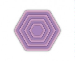 Die Cut Craft-Multilevel Hexagon
