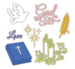 Die Cut Craft-White Dove Bible