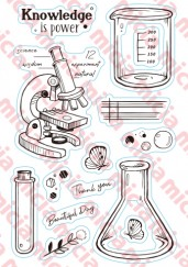 cleae stamp-Laboratory vials