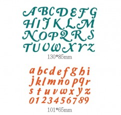 Die Cut Craft-Uppercase and lowercase english