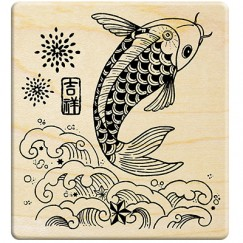 Chinese style paper cut fish